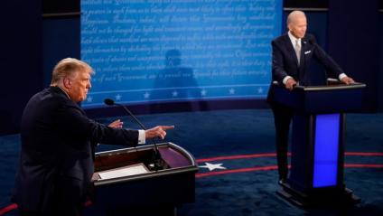 Donald Trump i Joe Biden durant el debat
