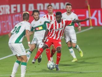 Diamanka,  durant el Girona-Elx, en què va jugar de titular per la lesió de Gumbau