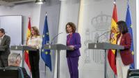 La ministra Montero, durant una roda de premsa
