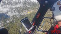 La recerca des dels helicòpters de la parella de joves desapareguts als Pirineus
