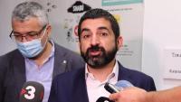 El conseller de Treball, Afers Socials i Famílies, Chakir El Homrani, i el secretari secretari general d'Afers Socials, Oriol Amorós, en una imatge del mes de juny