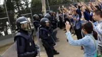 Mossos d'Esquadra e l'IES Ronda de Lleida l'1-O