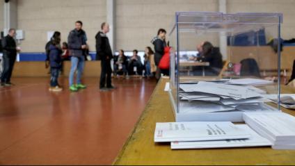 Col·legi electoral a Girona el 21-D del 2017.
