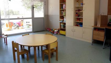 Una aula d'una escola bressol buida