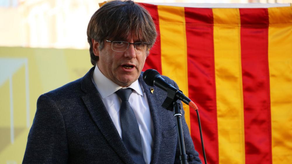 El president Puigdemont el passat 10 de setembre des d'Ambers amb motiu de la Diada