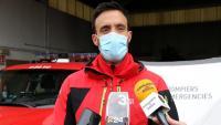 Juanmi Riu, responsable del Grup de Rescat de Muntanya de Pompièrs d'Aran respon els mitjans de comunicació