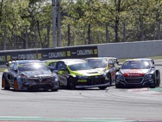 Una imatge del mundial RX en el circuit Barcelona-Catalunya