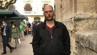 L'activista Adrián Sas en una imatge de l'octubre passat, tot just un mes abans de ser jutjat per l'Audiència