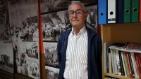 Josep Maria Monferrer a l'Arxiu Històric de la Mina, que va fundar