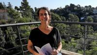 Maria Sempere, a la terrassa  de casa seva