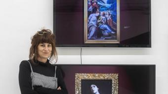 Núria Güell i el seu projecte 'Una película de Dios', que s'exposa a la galeria ADN. L'artista té en perspectiva una altra exposició a Barcelona, l'any que ve, al centre d'art de la Fabra i Coats.