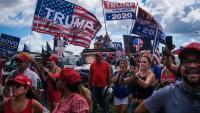 Manifestació de Latinos for Trump al parc Tamimi, diumenge a Florida
