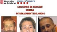 El rètol que els Mossos van difondre entre els cossos policials per buscar García de Santiago el 2012, després del crim de Viladecans