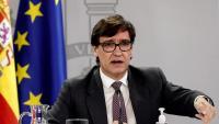 """El ministre de Sanitat espanyol, Salvador Illa, anunciant que encara """"no tenen presa cap decisió"""" per activar el toc de queda"""