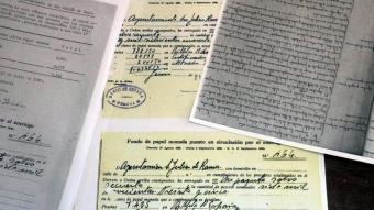 Detall dels documents que justifiquen els diners republicans de Sant Julià de Ramis