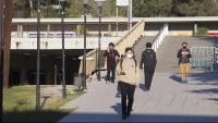Alumnes amb mascareta a la Universitat Autònoma