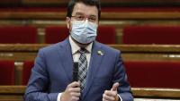 El vicepresident del govern en funcions de president, Pere Aragonès, ha defensat el decret aquest dimecres al ple del Parlament