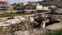 L'espai on hi havia el celler i el restaurant de Rendé Masdéu –arrasats per la riuada–,  ara fa una setmana