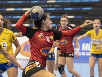 Mireia Torras, en el partit contra el conjunt portuguès