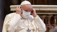 El papa Francesc, dimarts, en un acte organitzat per la Comunitat de Sant Egidi a la plaça del Campidoglio, a Roma