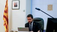 El vicepresident amb funcions de president, Pere Aragonès