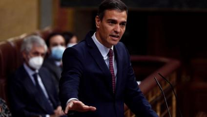 El president del govern espanyol, Pedro Sánchez, al Congrés