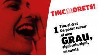 L'ús del català en l'ensenyament de Dret se situa per sota del 50%