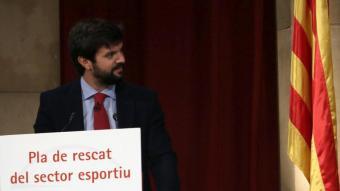 Gerard Esteva, president de la UFEC durant l'acte