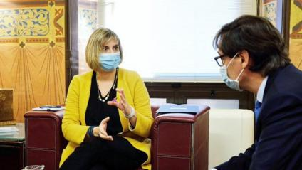 La consellera Alba Vergés reunida amb el ministre de Sanitat, Salvador Illa, per analitzar la situació de la pandèmia a Catalunya