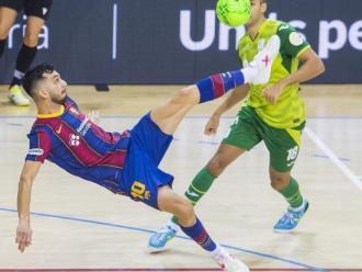 Esquerdinha, en una de les oportunitats del Barça