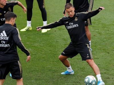 Hazard, novetat en l'entrenament del Real Madrid