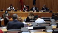 La comissió presidida per Magdalena Valerio aquest matí