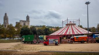 L'esplanada de la Copa, sense barraques i amb el circ