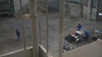 Una imatge de l'interior de la planta de compostatge de la Garrotxa, al camí de les Feixes d'Olot
