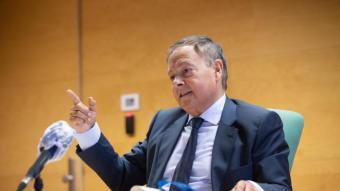 Fernando Lacaba, en una compareixença de premsa