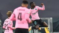 Dembele, celebrant el primer gol