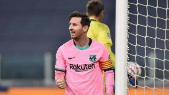 Leo Messi, autor del 0-2