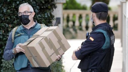 La Guàrdia Civil en l'escorcoll a l'Ajuntament de Cabrera de Mar aquest dimecres