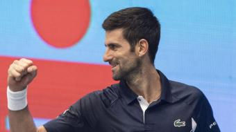 Djokovic durant el duel contra Coric