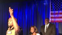 Kanye West, en un acte de campanya el juliol passat