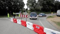 Control dels Mossos a la carretera d'accés al parc del Montseny aquesta setmana