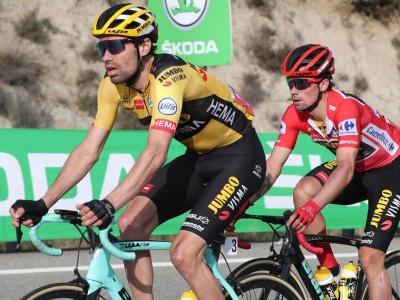 Dumoulin per davant de Roglic quan l'eslovè era el líder de la Vuelta