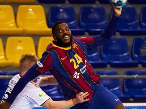 Dika Mem , amb sis gols, va tornar a ser un dels jugadors destacats del Barça