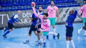 Ludovic Fàbregas en una acció del partit contra el Benidorm