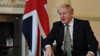 Boris Johnson, durant una reunió amb el primer ministre iraquià a Downing Street, a Londres