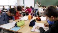 Una classe d'una escola de Roda de Ter en una imatge d'arxiu