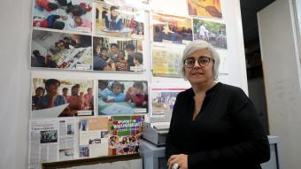 Balaguer a la seu que l'entitat té al barri del Raval, on treballen des del 1983 i on avui atenen prop de 2.000 infants i les seves famílies