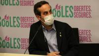 El secretari de Salut, Marc Ramentol, durant una roda de premsa celebrada el passat mes de setembre