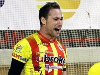 Marc Coy celebra un dels gols