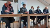 Un moment de la roda de premsa convocada pels empresaris del sector turístic de la Costa Brava